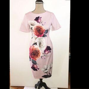 ASOS flower patterned short sleeve dress (pink) 6